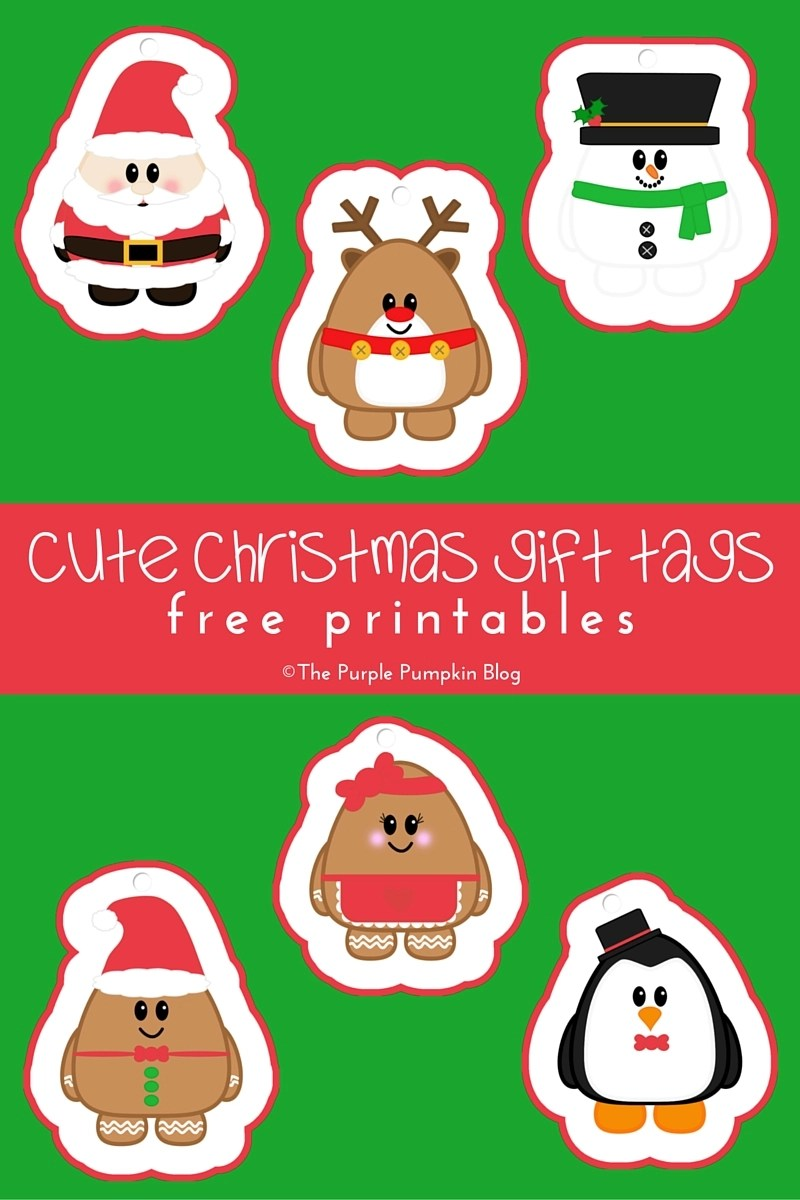 Cute Christmas Gift Tags - Free Printables. Plus lots more awesome free printables on this blog!