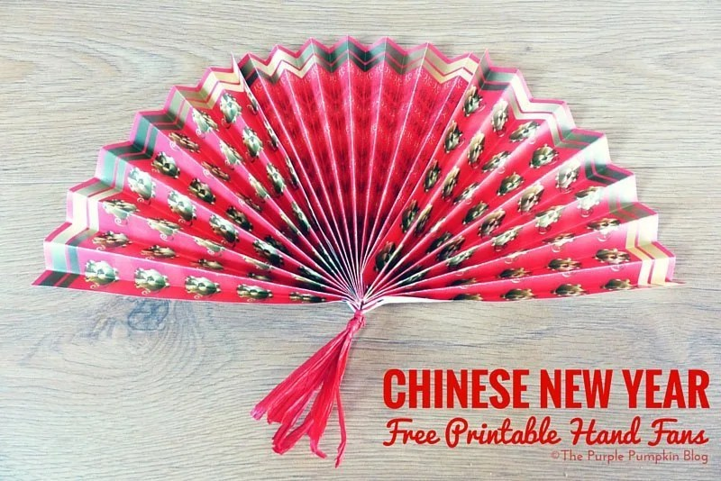 Chinese New Year Free Printable Hand Fans Printables