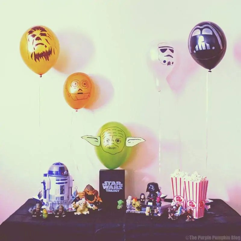 Star Wars Balloons for a Star Wars Movie Night