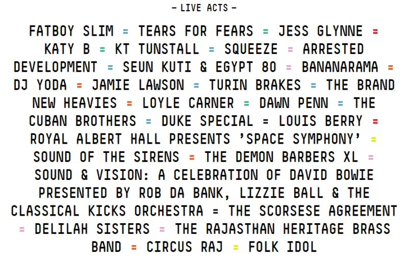 Camp Bestival 2016 Line-Up - Live Acts
