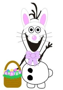 Easter Bunny Olaf Printable