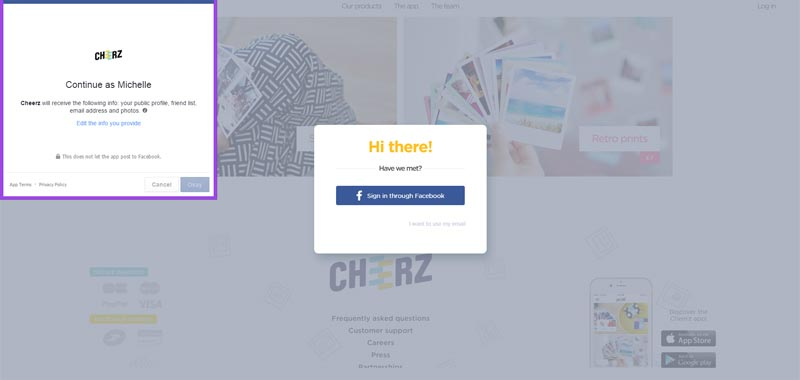 How to use Cheerz + Cheerz discount code