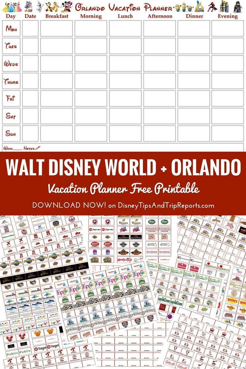 Orlando walt disney world vacation planner free printable free printable walt disney world orlando vacation planner week to view calendar publicscrutiny Images