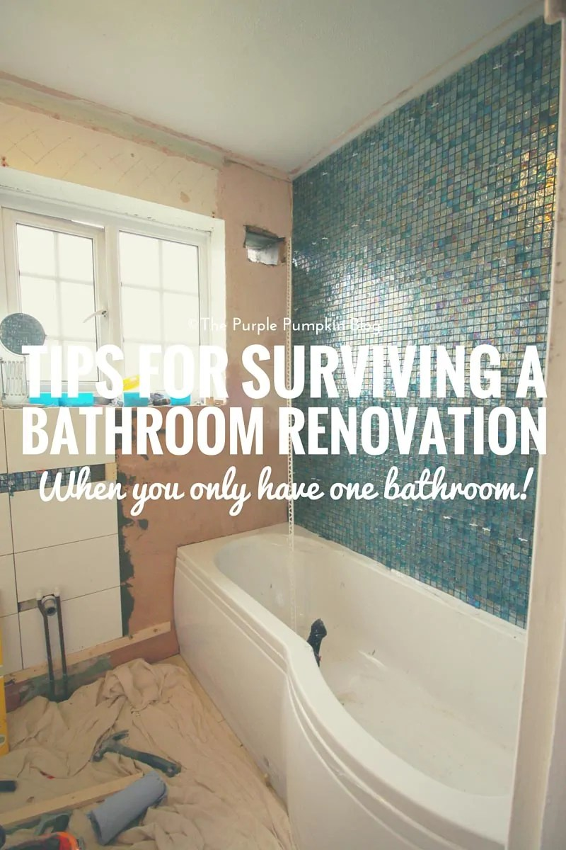 Luxury Tips For Surviving a Bathroom Renovation When You Only Have One Bathroom