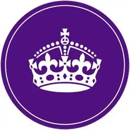 Keep Calm and Eat A Cupcake - Purple Cupcake Toppers