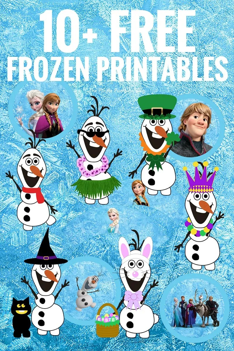 graphic relating to Free Olaf Printable named Free of charge Frozen Printables