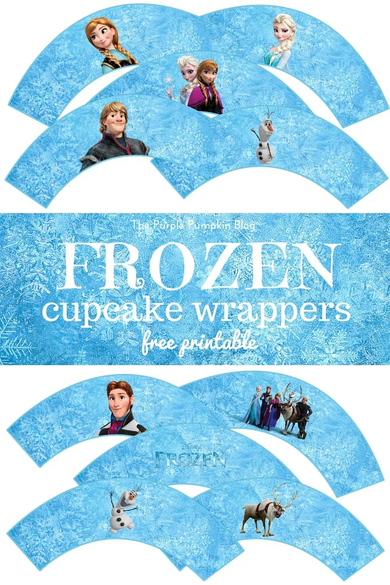 photo about Free Frozen Printable identify Frozen Cupcake Wrappers Cost-free Printables