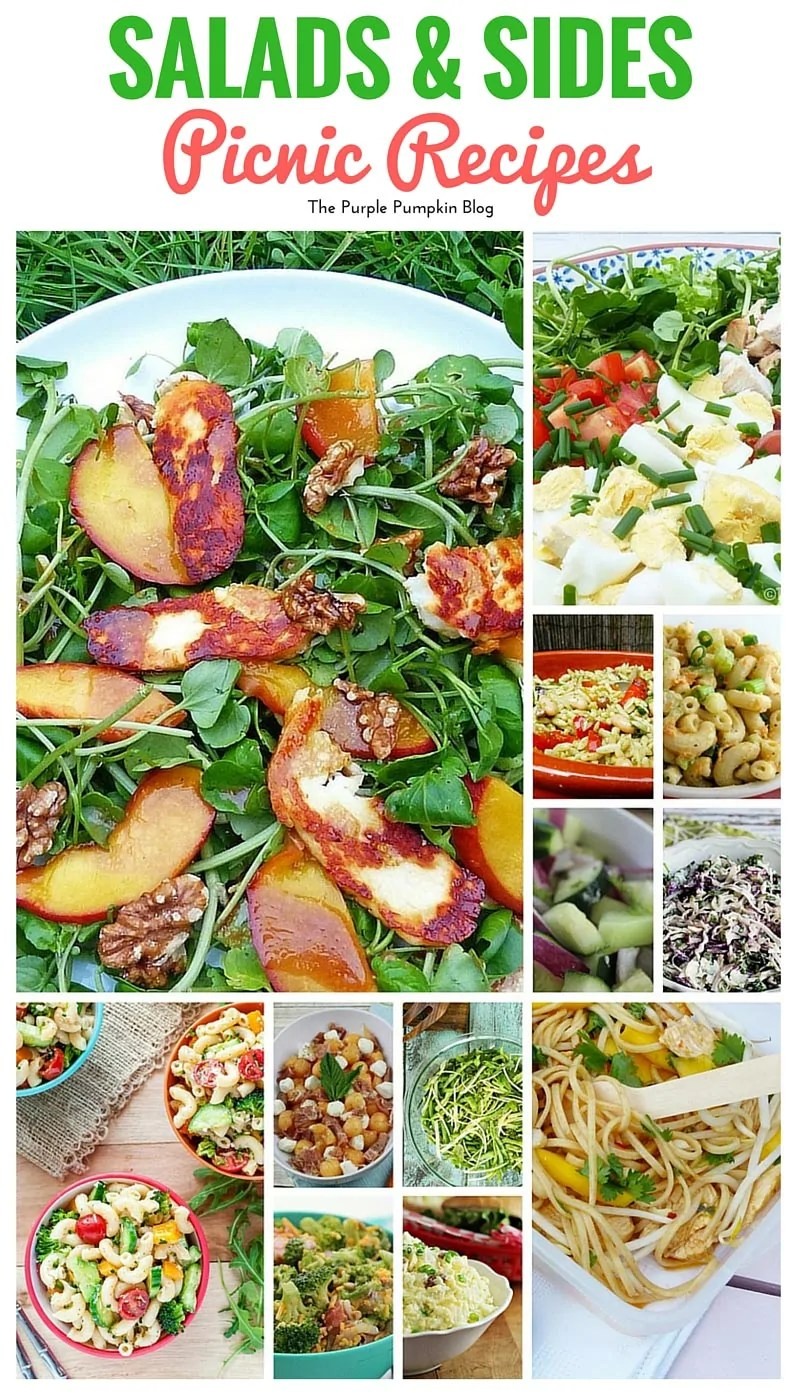 Make these salads and sides to take on a picnic. Plus there are 38 more picnic recipes to make