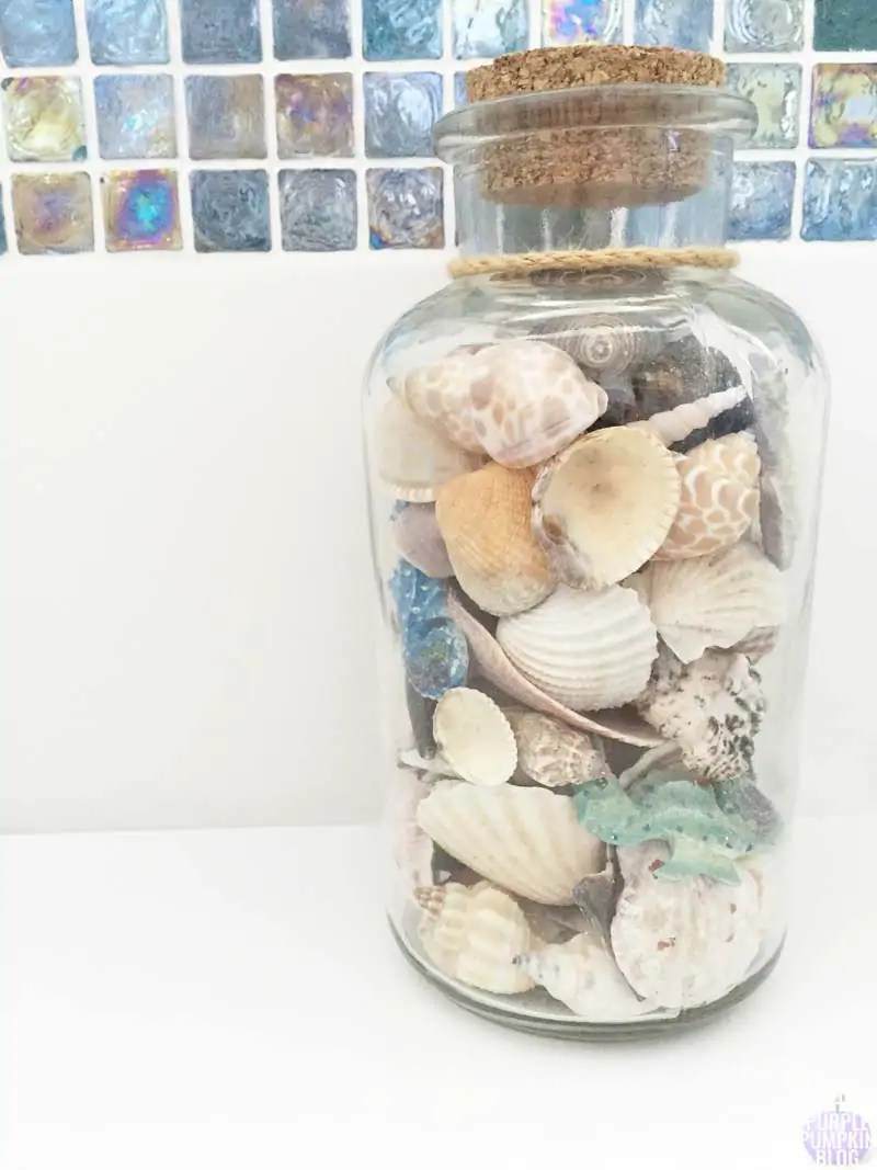 Beach Bathroom Inspiration - Bottle of seashells