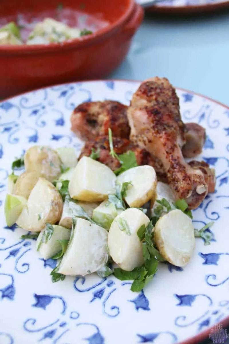 Honey & Mustard Chicken with Apple-Potato Salad & Warm Fennel