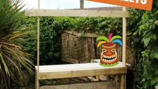 How To Build A Tiki Bar Using Old Pallets
