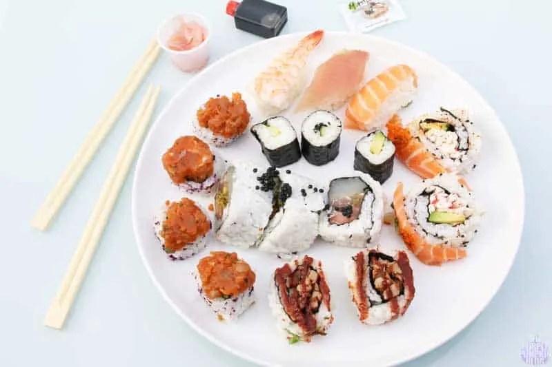 Sushi from Yo! Sushi