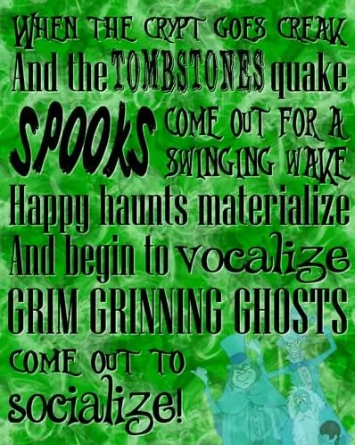 Grim Grinning Ghosts - The Haunted Mansion Poster - Free Printable (Green)