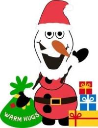 Santa Claus Olaf - Free Printable