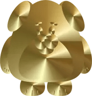 The Year of the Dog - Gold Dog Graphic