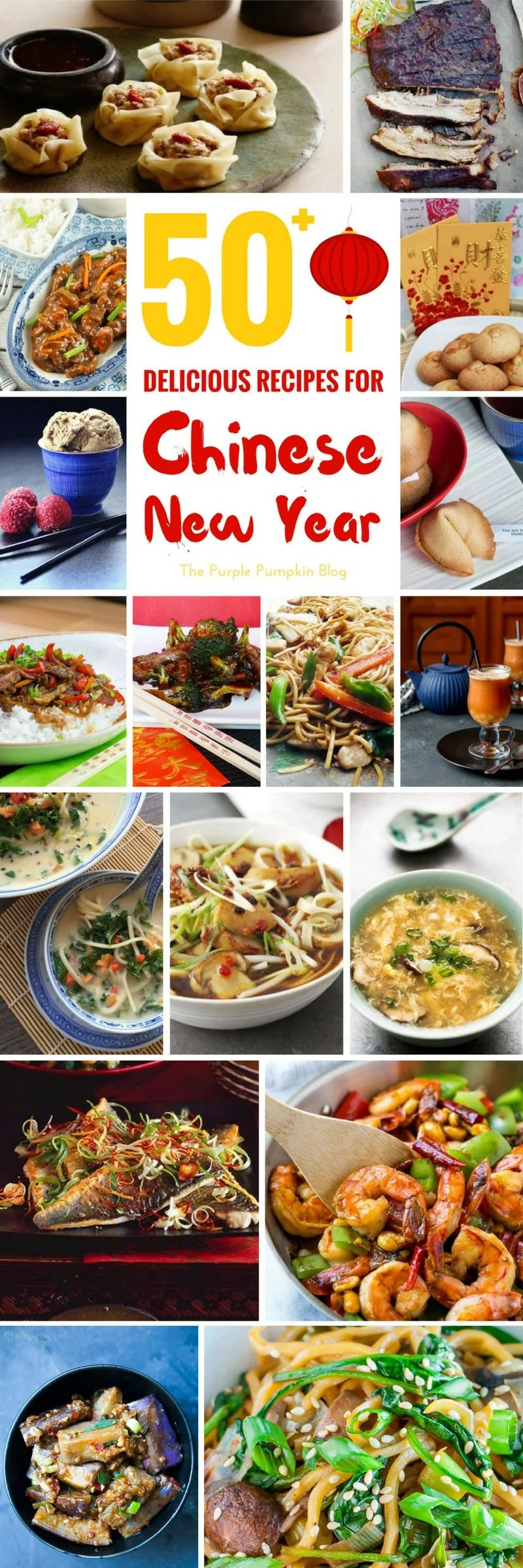 50+ Delicious Recipes for Chinese New Year - never be stuck for Asian and Chinese recipes again - a brilliant round up over 50 recipes. Includes apps, soups, entrees, vegetarian, desserts, and drinks!