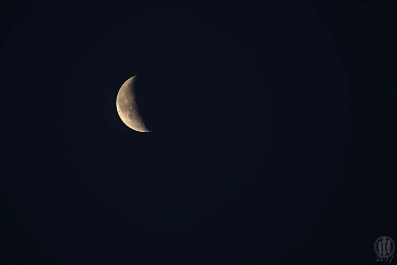 Project 365 - 2017 - Day 22 - Waning Crescent Moon