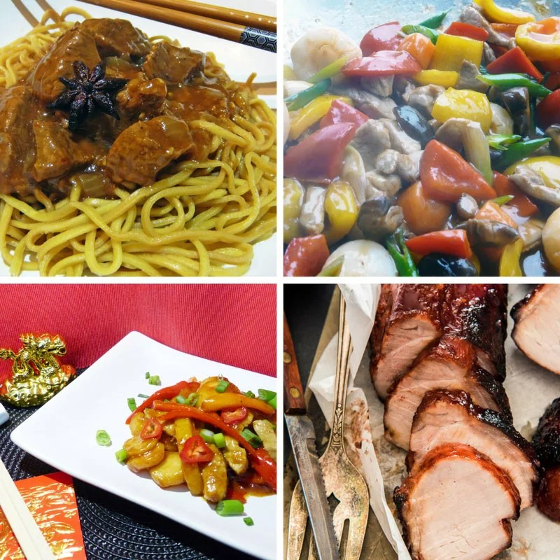 Recipes for Chinese Main Dishes with Lamb + Pork