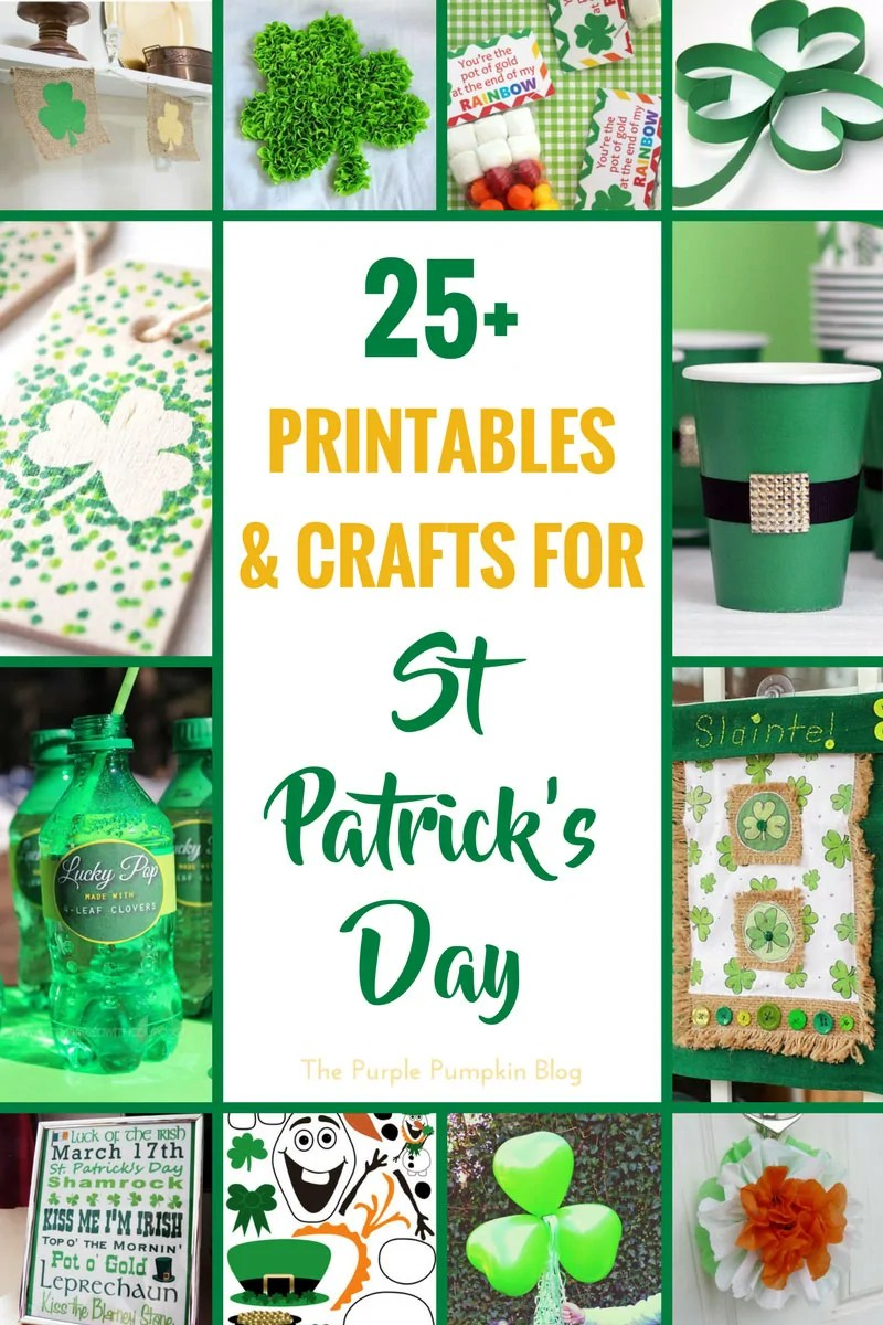 25 Printables & Crafts for St. Patrick's Day! Features a lot of green materials that make a fun selection of crafts! Celebrate St. Patrick's Day with some of these creative ideas including rock painting, paper crafts, and St. Patrick's Day house decor.