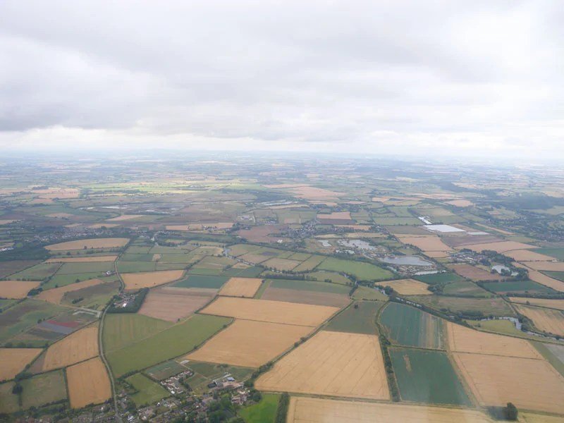 Aerial View of Countryside