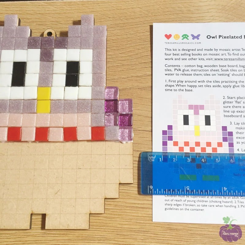 Pixelated Mosaic Kit - Owl