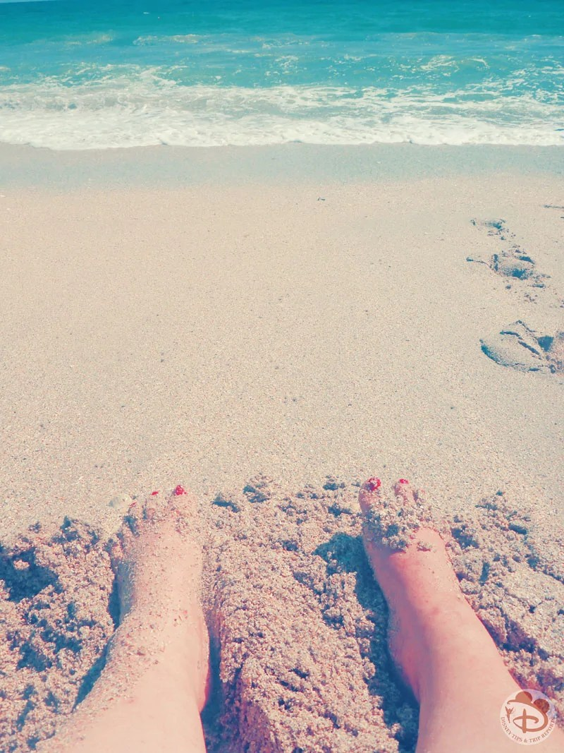 Obligatory feet in the sand photo!