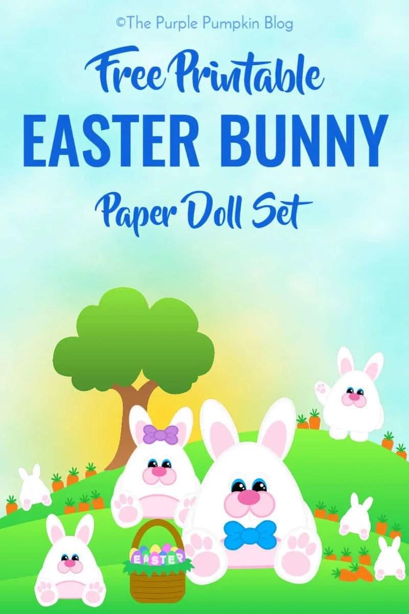 photograph regarding Printable Easter Bunny titled Free of charge Printable Easter Bunny Paper Doll Established