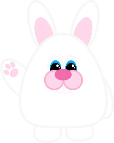 Free Printable Easter Bunny (Waving)