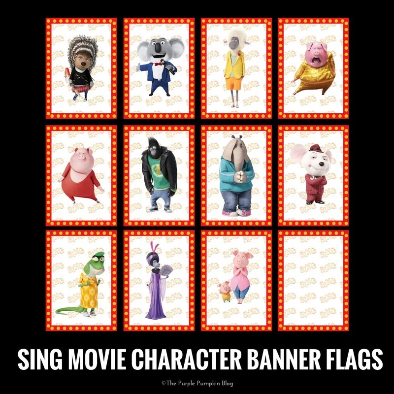 Sing Movie Party Printables Free Printables To Download
