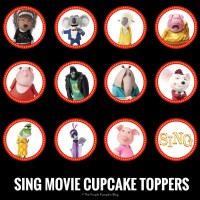 SING Movie Cupcake Toppers