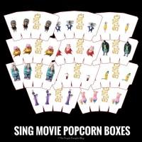 SING Movie Popcorn Boxes