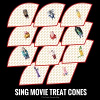 SING Movie Treat Cones