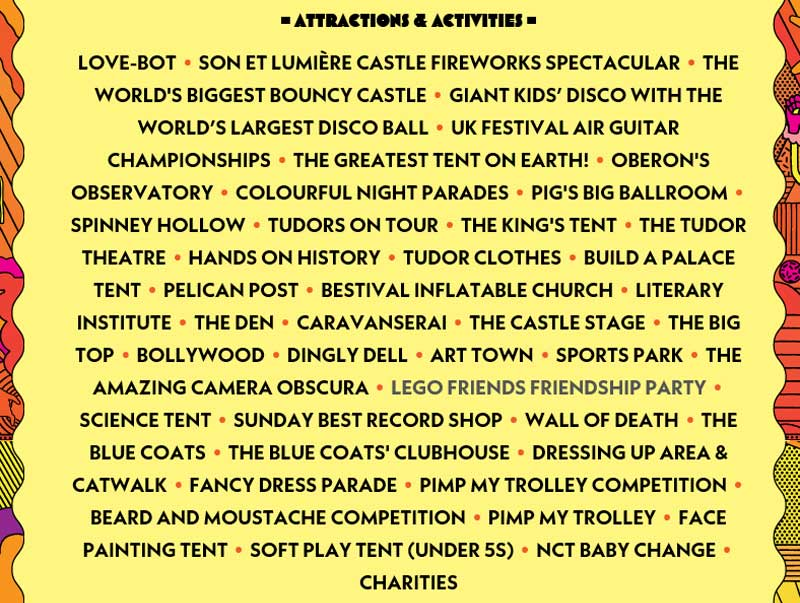 Attractions & Activities at Camp Bestival 2017