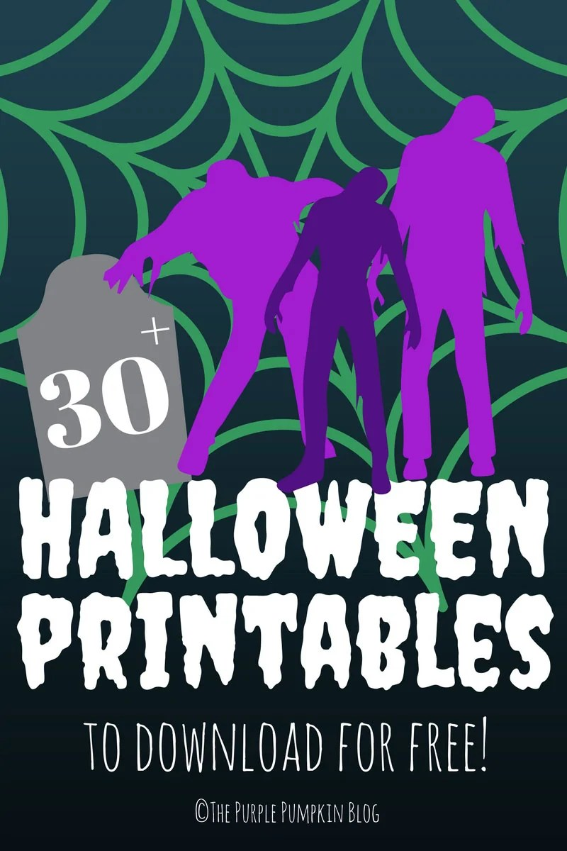 If you're looking for Free Halloween Printables you've come to the right place! In amongst all of the free printables that I've shared over the years, are lots of awesome Halloween printables including Halloween Party Sets, Subway Art Posters, Pumpkin Stencils, Trick or Treat Printables, and Halloween Crafts. The Purple Pumpkin Blog is your one-stop-shop for all things Halloween!