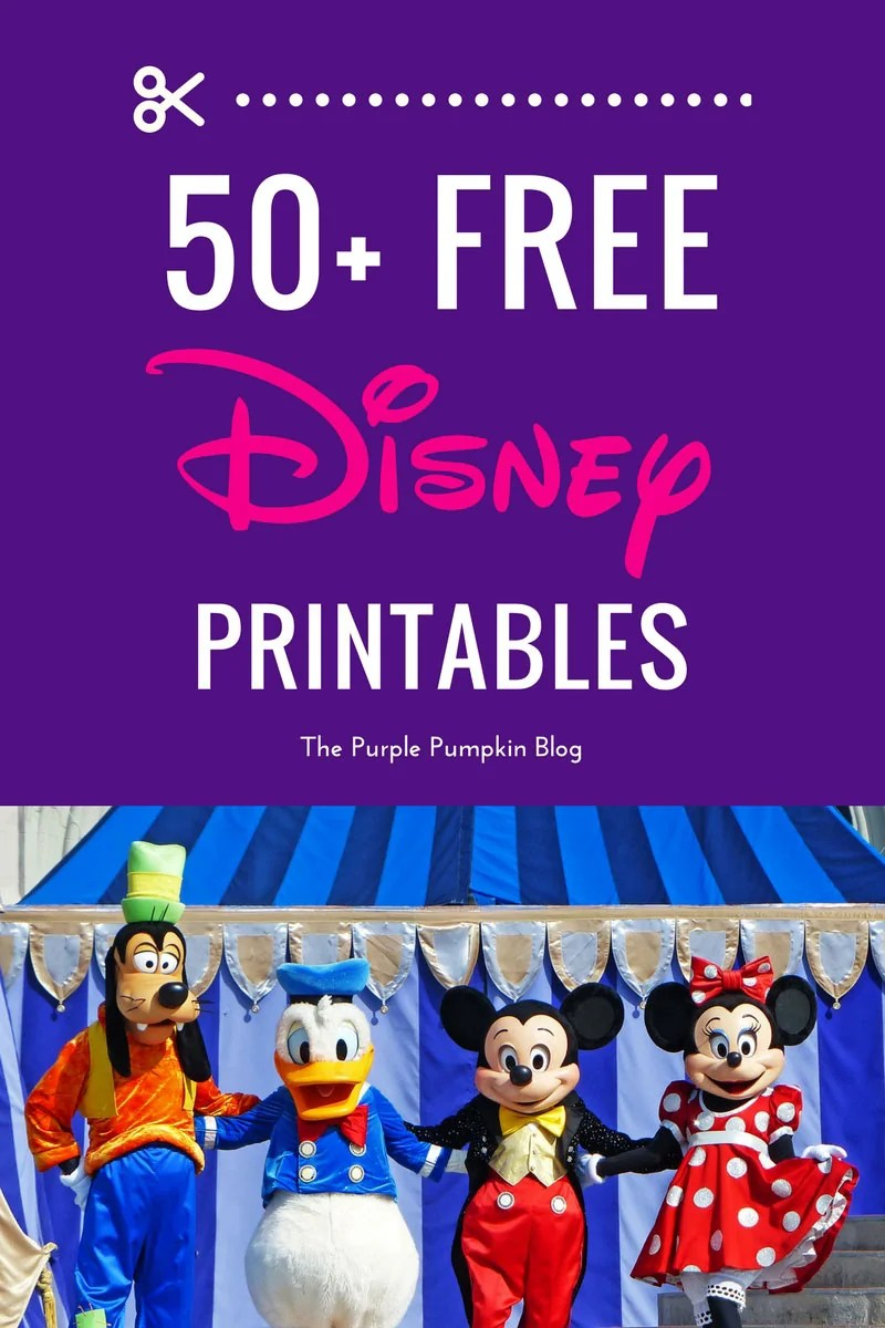 This is a awesome source of FREE Disney printables! For planning and organising Disney vacations, Disney parties, and Disney crafts. Definitely a site to pin and save!