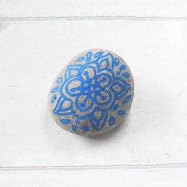 Mandala Painted Stone