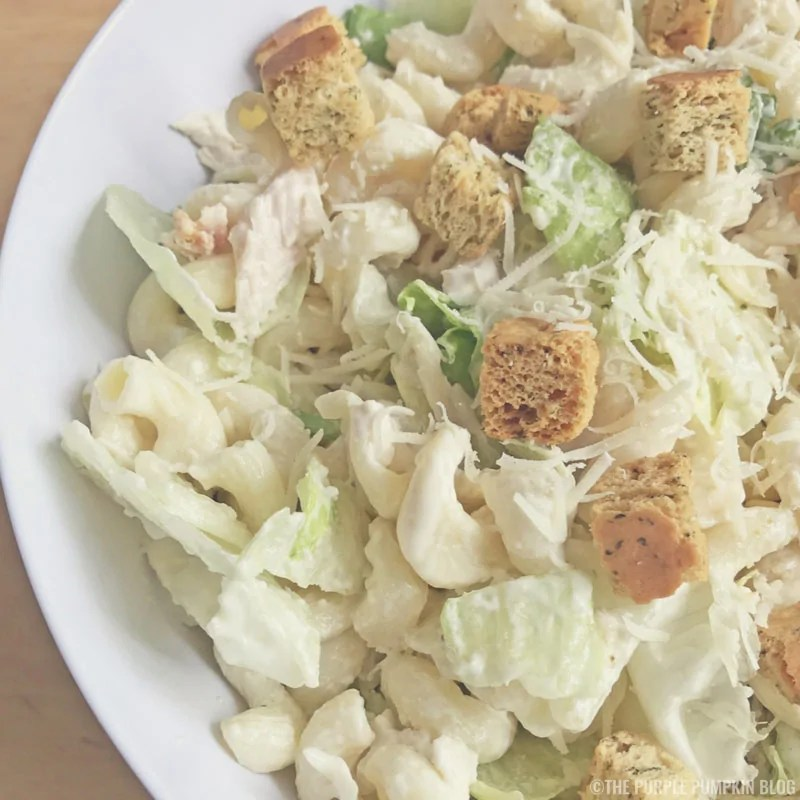 Chicken & Pasta Caesar Salad.