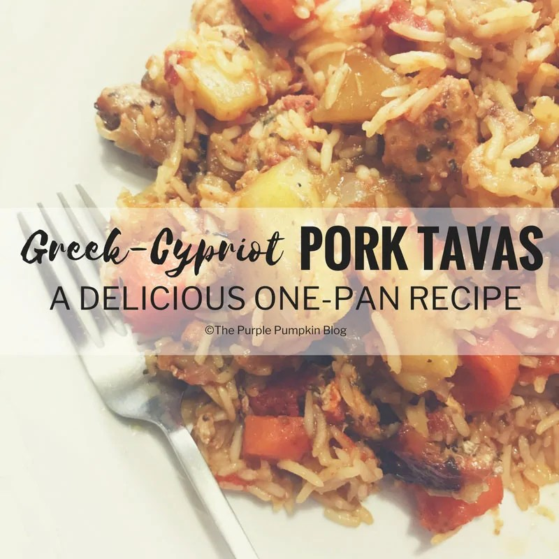 Greek- Cypriot Pork Tavas. This delicious one-pan recipe for Pork Tavas is a Greek-Cypriot recipe with potatoes, veg, & rice. Great to meal prep in advance for a mid-week dinner.