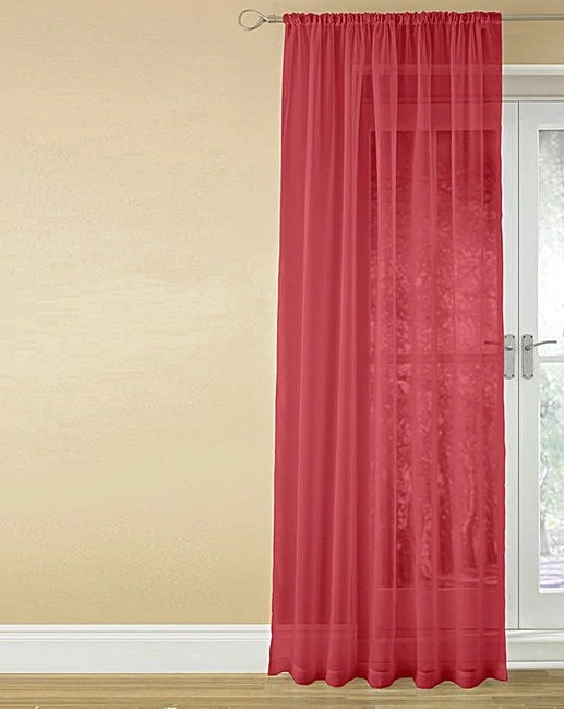 Red Voile Curtains