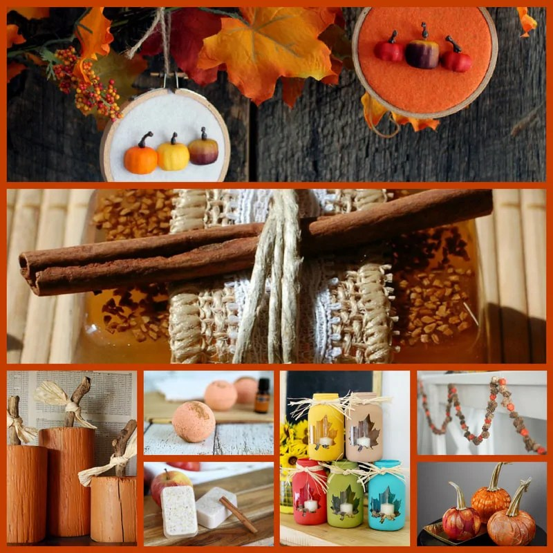 24 Awesome Autumn Crafts for Adults - Fall garlands, soap and bath bomb making.