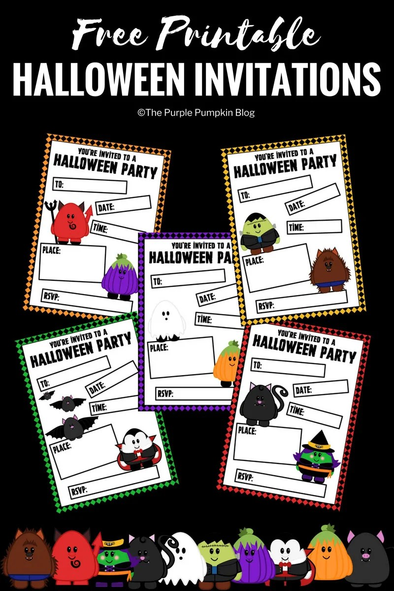 Free Printable Cute Halloween Invitations + lots of other awesome free Halloween printables!