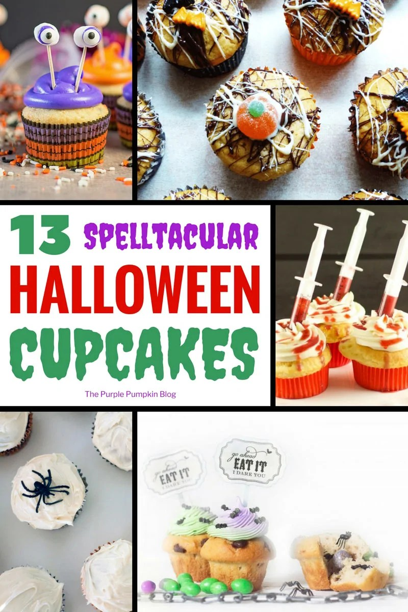 13+ Spelltacular Halloween Cupcakes - a round up of spooky and cute Halloween cupcakes! Which ones will you make?
