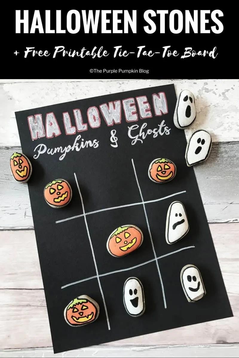Halloween Stones: Tic-Tac-Toe