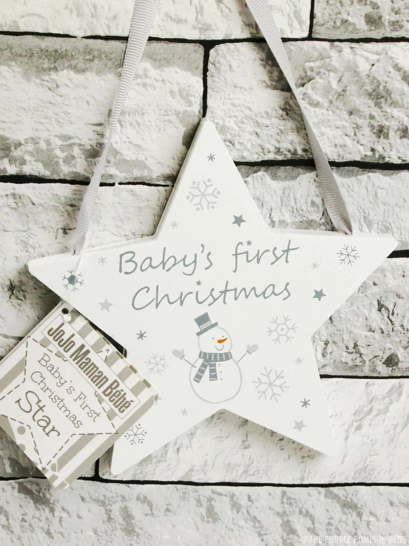 Baby's First Christmas Star Ornament