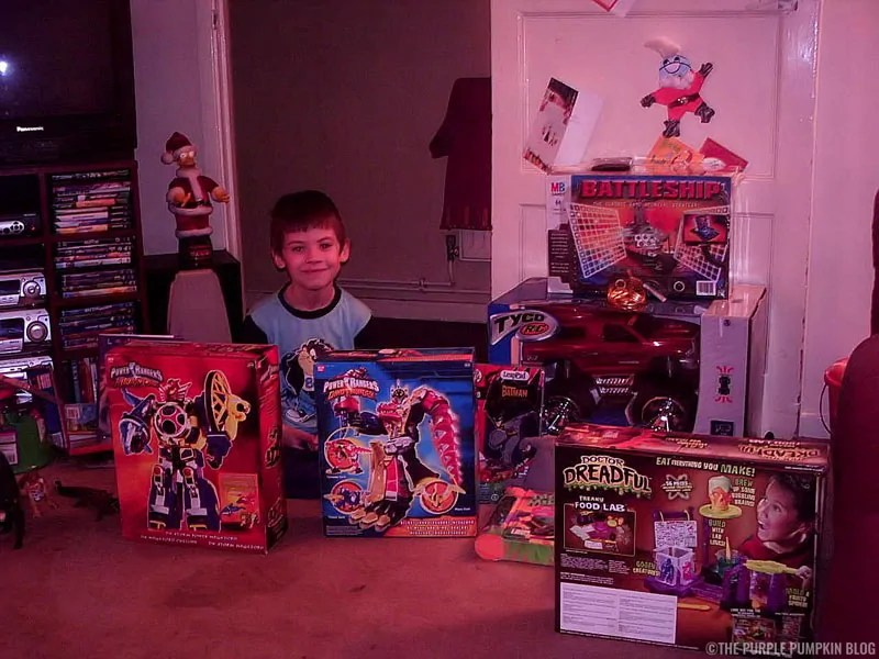 Christmas 2005 - my son with his presents