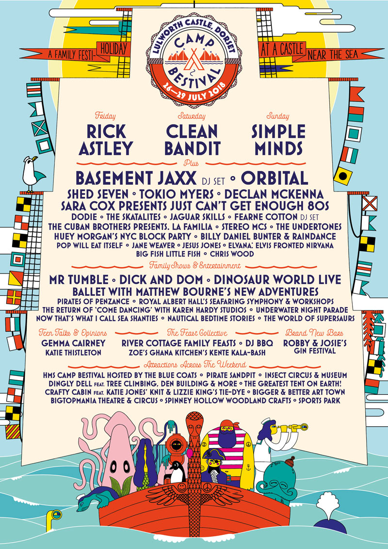 Camp Bestival Line Up Poster 2018