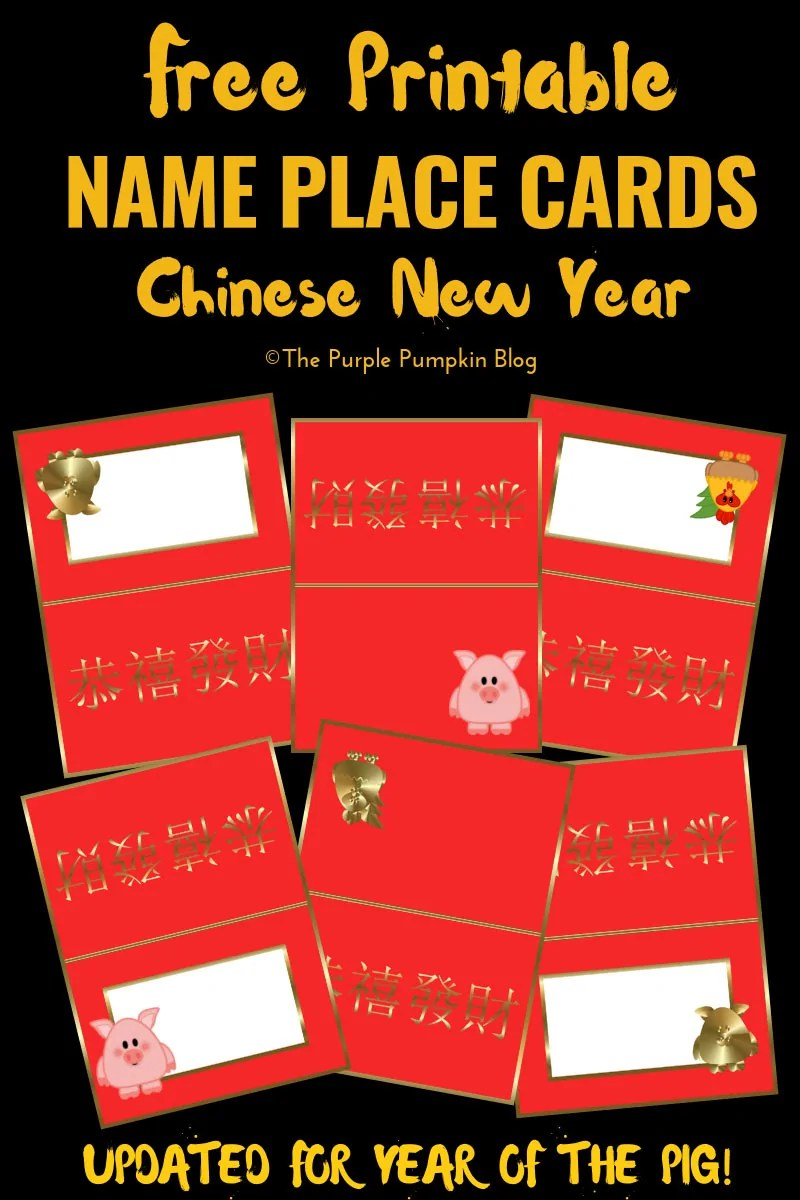 picture relating to Free Printable Name Cards named Standing Stage Playing cards for Chinese Fresh 12 months