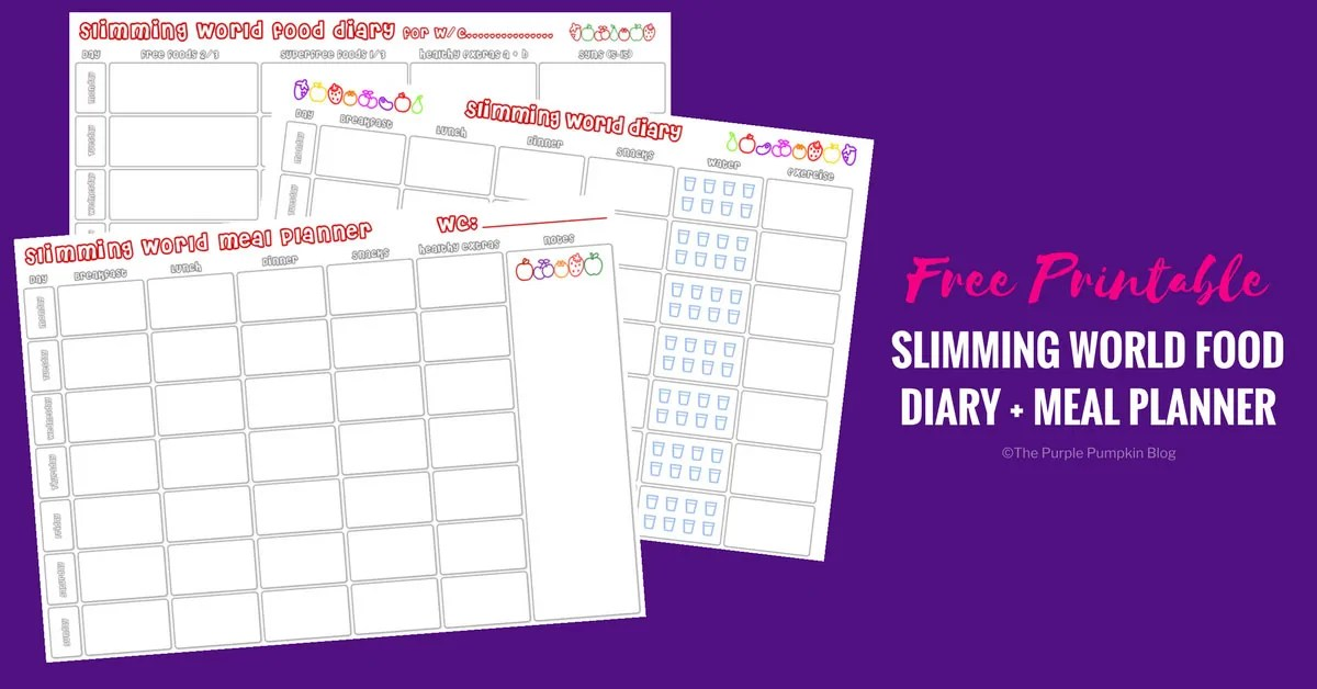 photograph about Printable Food Diaries referred to as Slimming Global Food items Diary Printable Dinner Planner