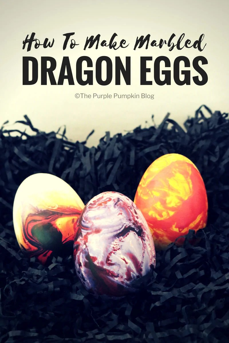 """How to make marbled dragon eggs. Using marbling ink is a fun and beautiful way to decorate paper, but what about using the technique to decorate other things, like these """"dragon"""" eggs? This tutorial shows you how!"""