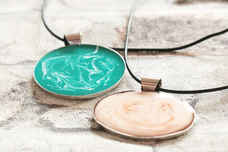 Jewellery made with cold enamel technique